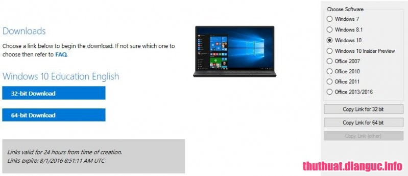 Công Cụ Download ISO từ Microsoft