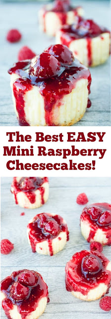 The Best EASY Mini Raspberry Cheesecakes! #best #easy #minicheesecake #cheesecake #easydessert #whole30 #raspberry
