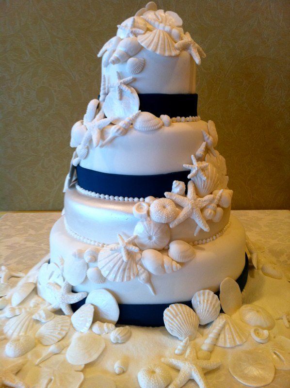 Wedding Cakes Pictures Beach Themed Wedding Cakes