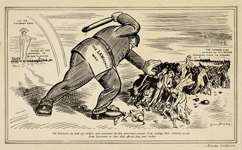 1912 Lawrence Mill Strike Editorial Cartoon