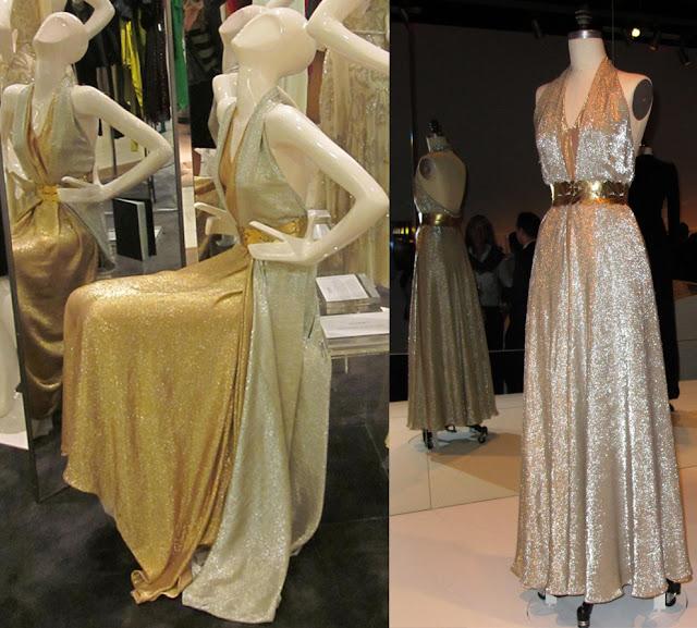 Fabulous Film Fashions W.E.  - Wallis - Gold & Silver Lame Gown -  Madeleine Vionnet