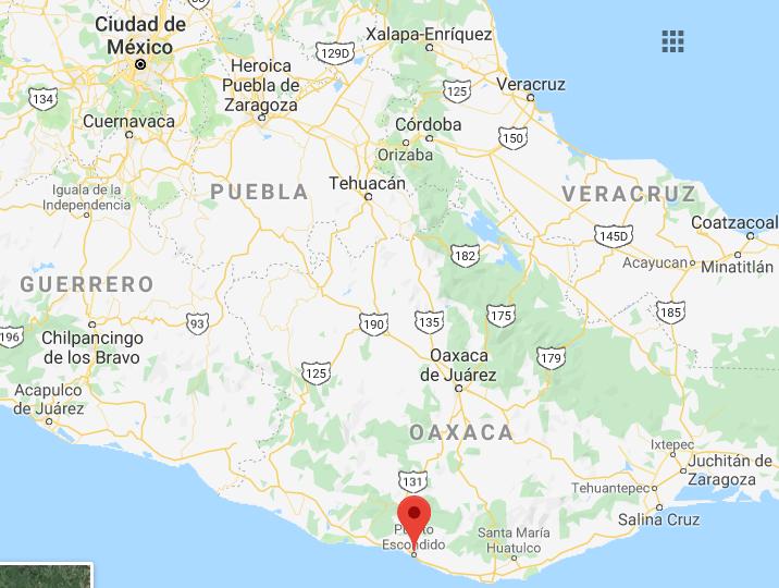 Texto de Como llegar a Puerto Escondido por Carretera en carro moto o camion desde CDMX