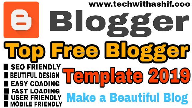 Best Blogspot Blogger Template 2019, blogger  template 2019, responsibe blog template