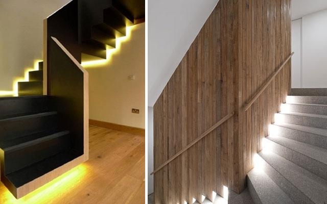 Marzua ideas para decorar escaleras con luz for Decoracion escaleras duplex