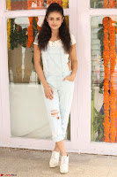 Mishti Chakraborty in lovely Jumpsuit and crop top at Wings Movie Makers Production No 1 movie launch ~  Exclusive 18.JPG