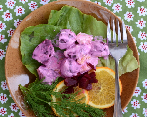Swedish Pickled Beetroot Salad, another beet salad from the Beet Queen ♥ A Veggie Venture