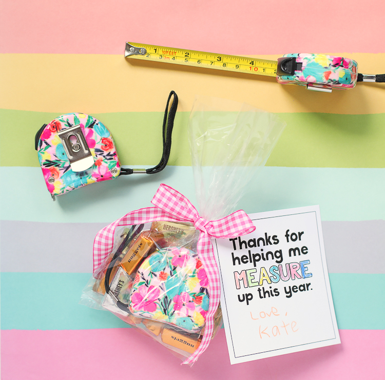 Teacher Appreciation Gifts: Floral Measuring Tape