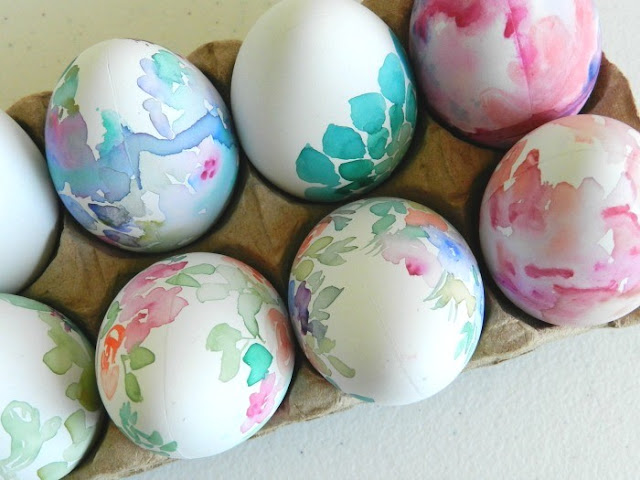 Watercolor Painted Fake Easter Eggs: grow creative blog