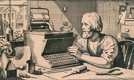 Christopher Latham Sholes penemu mesin ketik