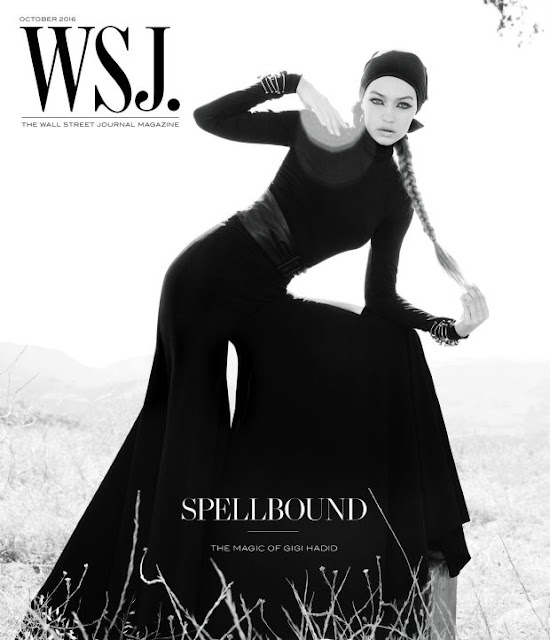 Gigi Hadid wears Brandon Maxwell on the cover of 'WSJ. Magazine,' styled by George Cortina. Photo: Inez & Vinoodh/WSJ. Magazine