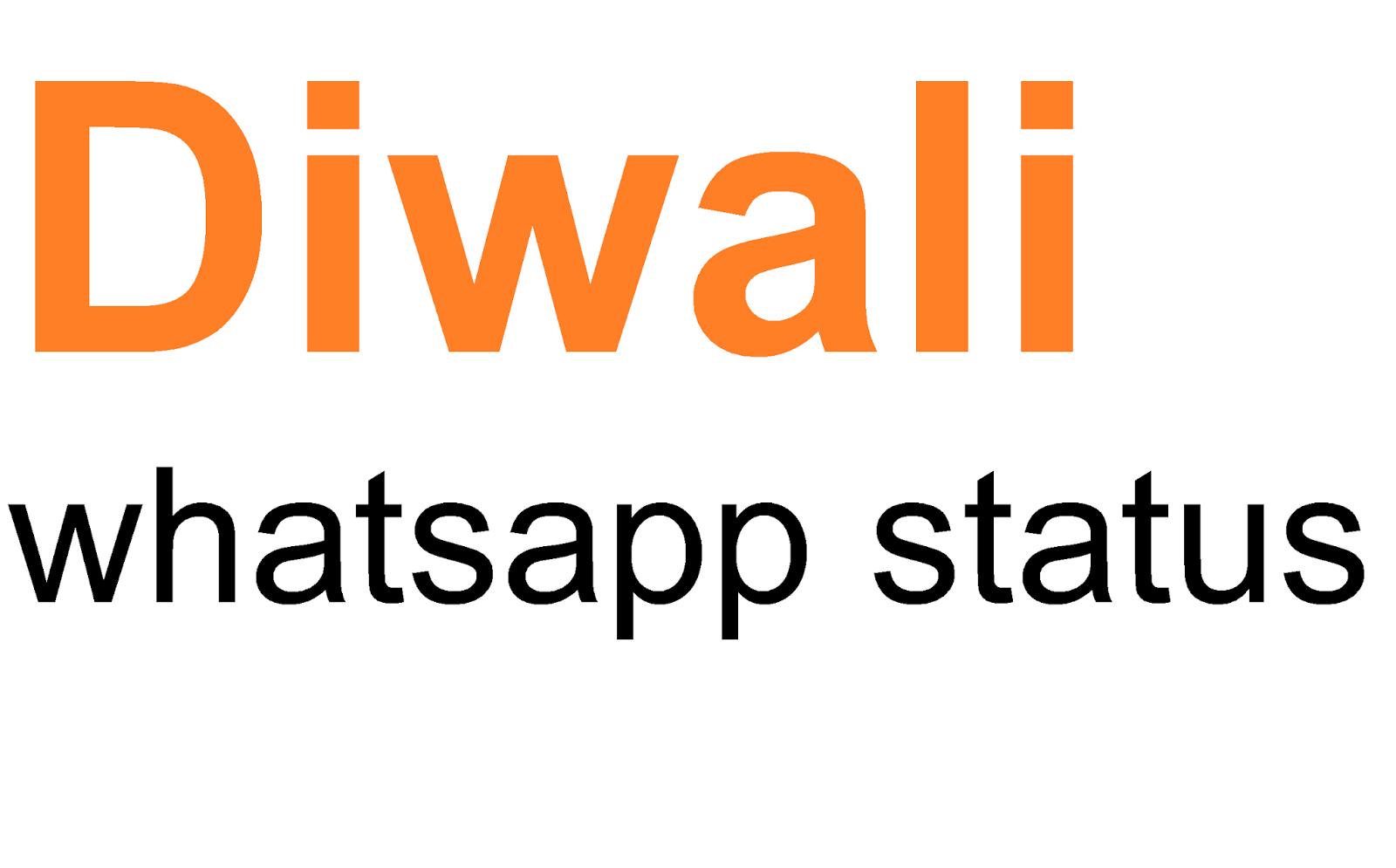 Status Whatsapp: Happy Diwali Whatsapp Status