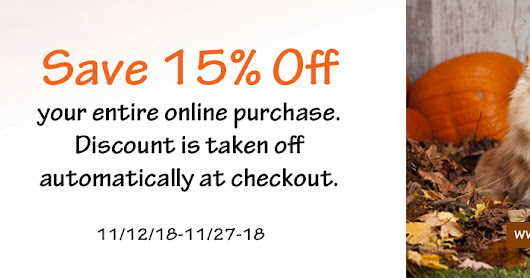 15% Off Thanksgiving Day Sale