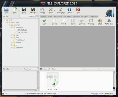 PES File Explorer 2014