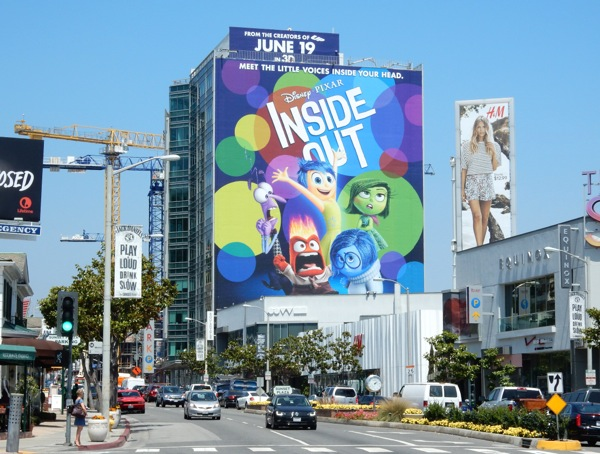 Disney Pixar Inside Out movie billboard