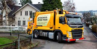 Volvo autonomous refuse truck