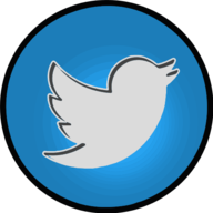 twitter glowing icon