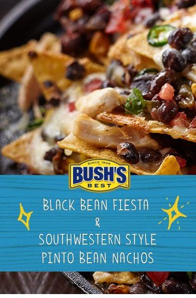 Black Bean Fiesta & Southwestern Style Pinto Bean Nachos