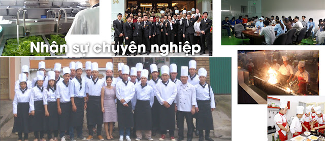 Đầu bếp chuyên môn cao, phục vụ chuyên nghiệp