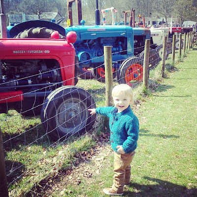 Toddler and tractors