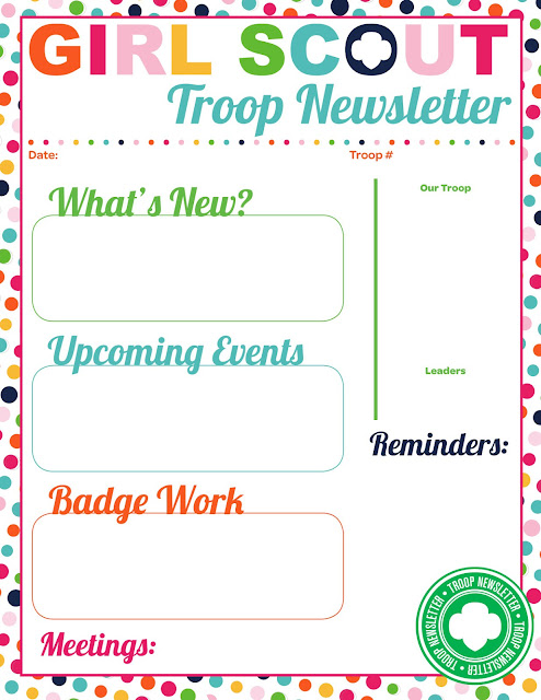 I am girl scouts for Girl scout calendar template
