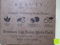 Verpackung vorne: LIPPENPFLEGESTIFT Einzigartig erfrischende Düfte (4-er Packung) - Lippenpflege die trockene Lippen repariert und Feuchtigkeit verleiht. 100% aus natürlichem Bienenwachs Lippenbalsam. Hergestellt in USA von Beauty by Earth
