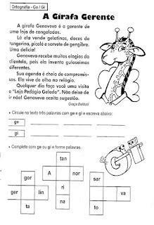 Leitura a girafa gerente