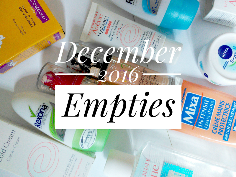 December 2016 empties! would I repurchase these products!?