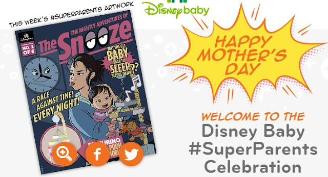 Disney Baby is celebrating super Moms and Dads from Mother's Day clear up until Father's Day and they want you to enter daily to win great Disney prizes for your little ones!