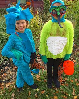 humming bird and sea horse costumes