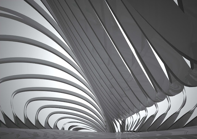 Virtual model of roof structure in new opera house in Busan