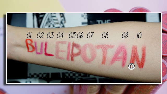 full+swatch+Fanbo+Fantastic+matte+lipstick