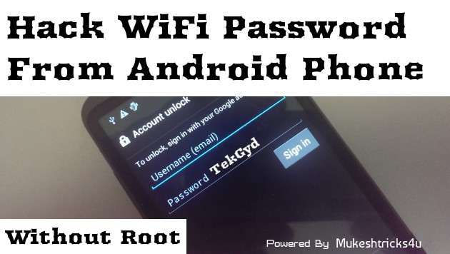 Hack Wifi Password from android without root 2016 | tekgyd|Mukeshtricks4u