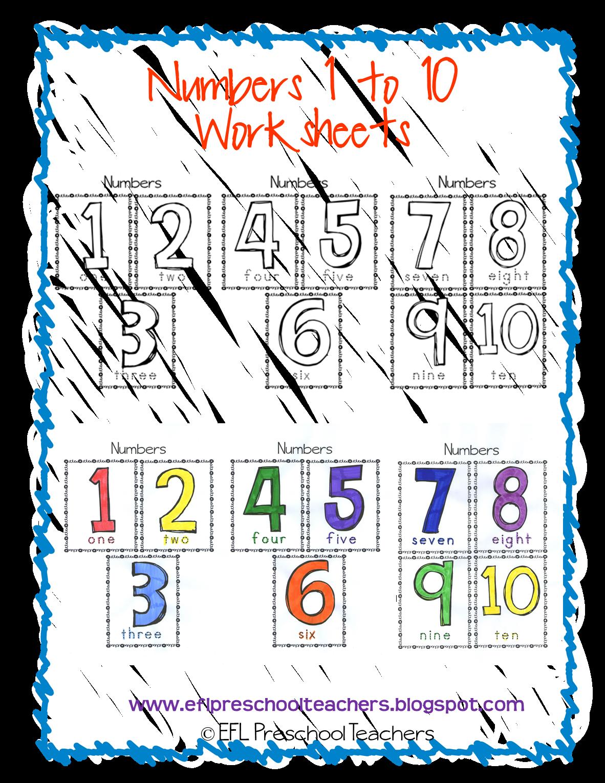 Esl Efl Preschool Teachers Numbers Teaching Resources For The Preschool Ell