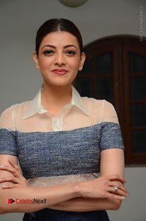 Actress Kajal Agarwal Latest Stills at Khaidi No 150 Movie Interview  0121.JPG