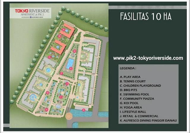Site Plan Apartemen Tokyo Riverside @ PIK 2 Sedayu Indo City