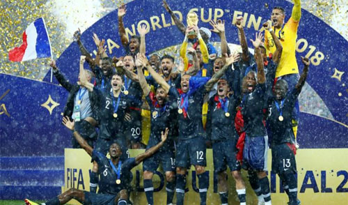 CHAMPION : France as champion on the Fifa World Cup 2018 win over Croatia on the final match. Photo Aimee Lewis (CNN)