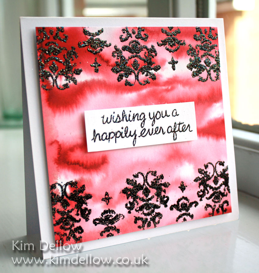 Watercolour background wedding card