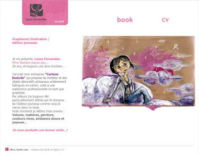 Book de travaux en ligne de graphisme, édition, illustration et édition jeunesse de Laura Dambre  © CARTONS DUDULLE.