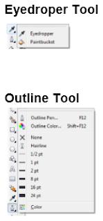 eyedroper tool, outline tool