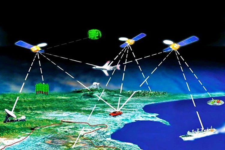 Üç ana bölümden meydana gelen GPS pozisyon konumunu uydular, yer istasyonları ve alıcılarla belirlemektedir.