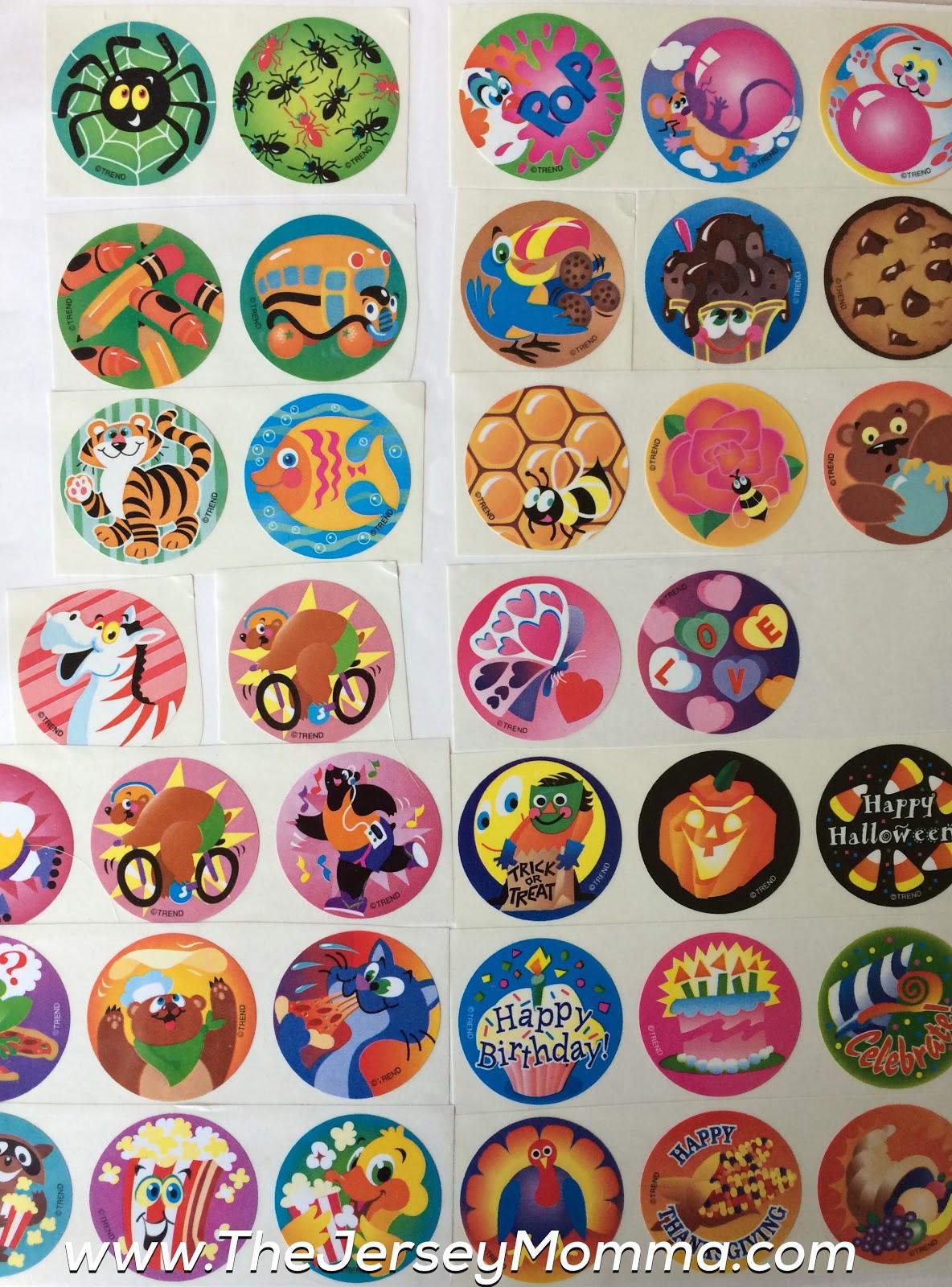 Orange Excellent Scent Vintage 80s Matte Smurf Scratch /& Sniff Stickers