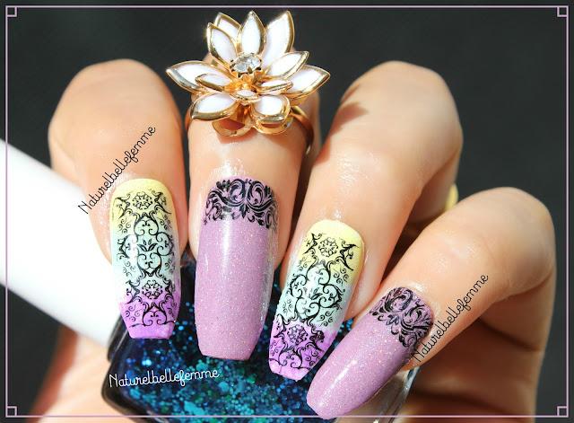 abstract nail stamping