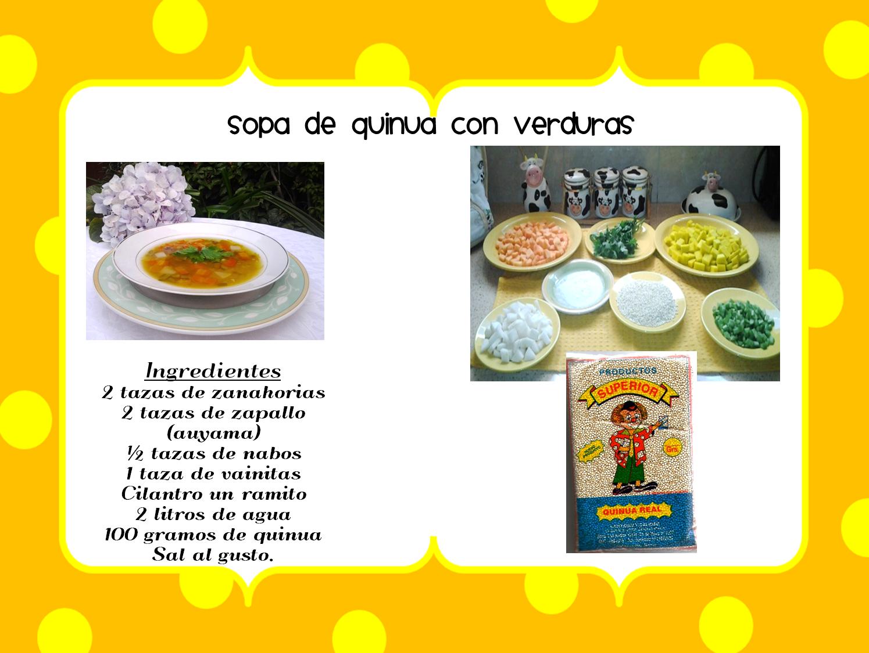 Recetas con quinua ingredientes y preparacion