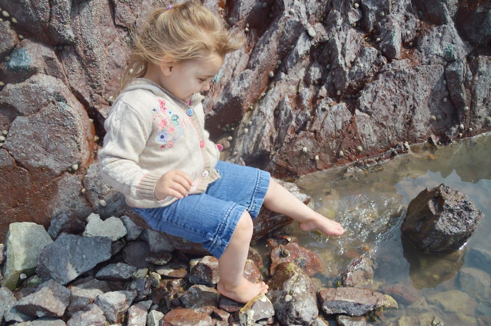 , Climbing at Conduit Beach, Pembrokeshire