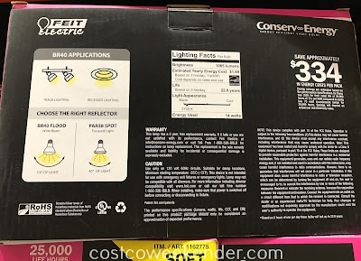 Costco 1162775 - Feit Electric LED BR40 Flood Light: great for any home