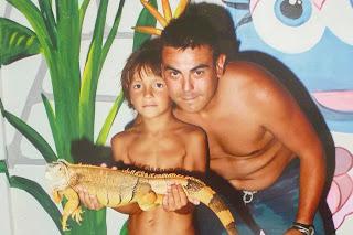 Izan y yo con una iguana, Aquashow Park.