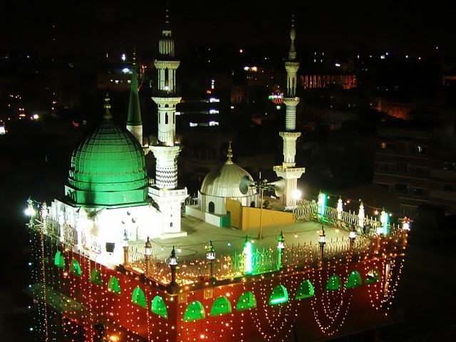 Decorated Mosque In Rabi Ul Awal HD Wallpapers Download Free