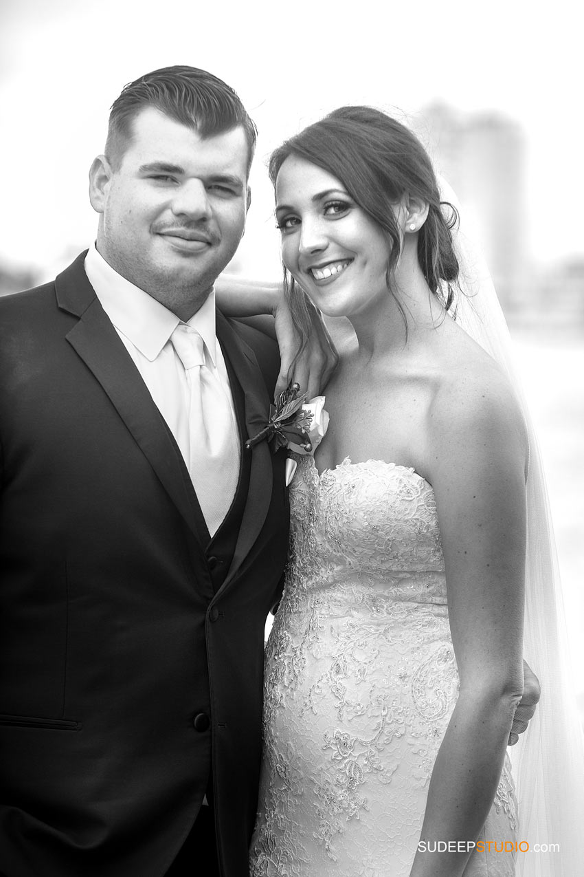Classy Black White Wedding Portraits Huron Wedding Photography by SudeepStudio.com Ann Arbor Wedding Photographer