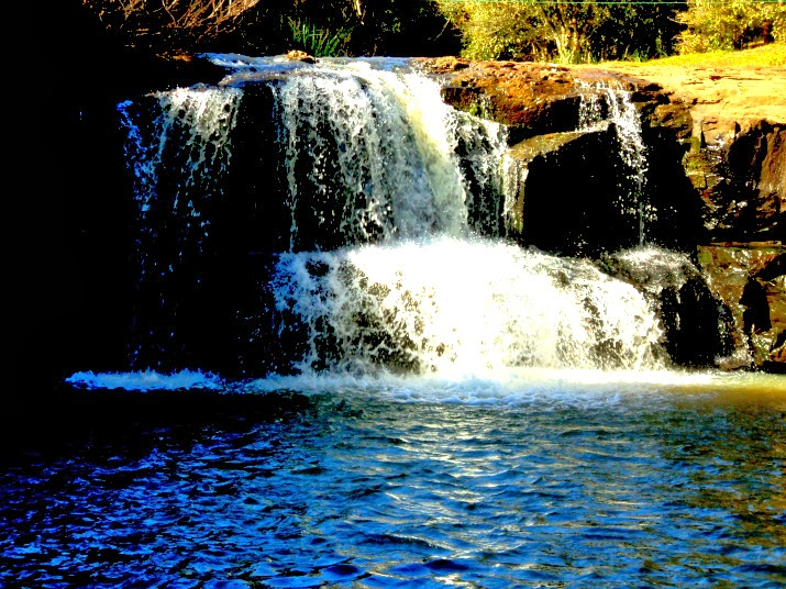 Cachoeira do Arroia Caraá, Morro da Borússia, em Osório
