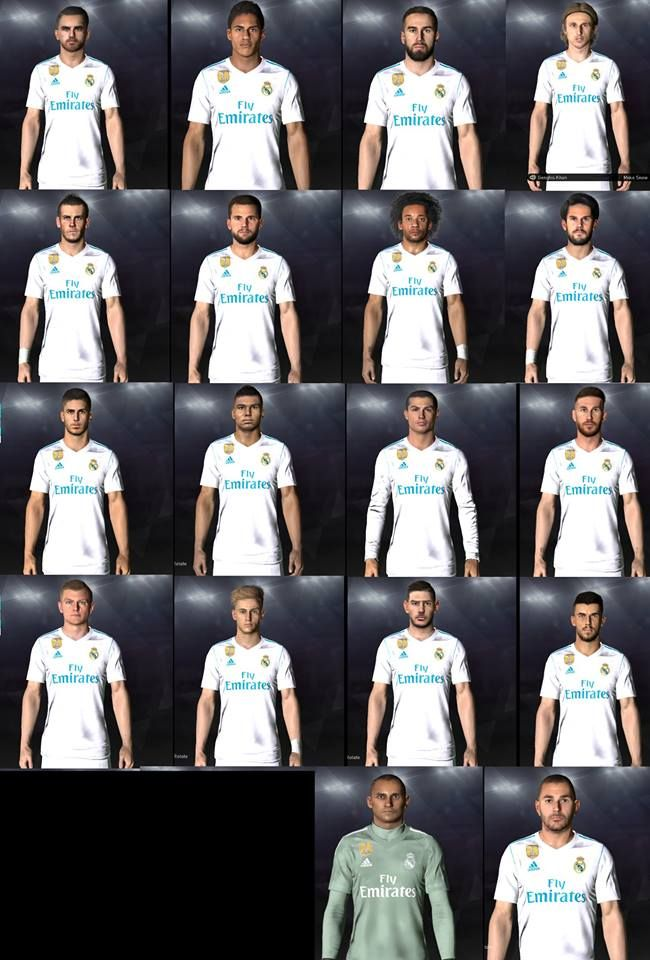5073c5003a6 PES 2017 Real Madrid Full Face-Pack